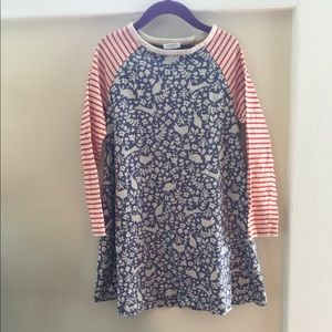  Mini Boden Long-Sleeve Jersey Dress Size 6-7